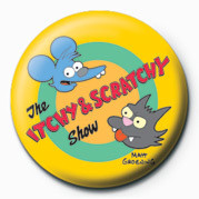 THE SIMPSONS - itchy & scratchy Badge