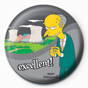 THE SIMPSONS - mr. burns excellent! Badge