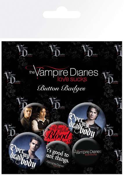 The Vampire Diaries - Stefan & Damon Badge Pack