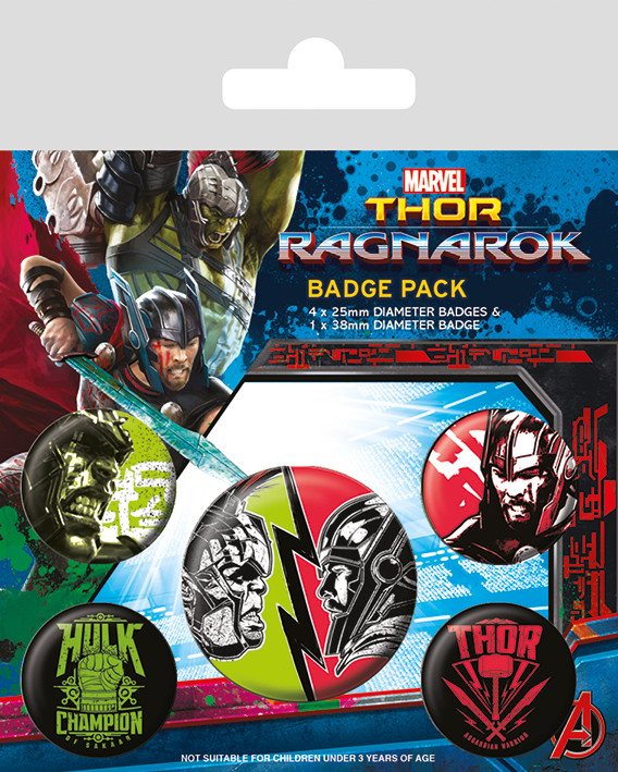 Thor Ragnarok Badge Pack