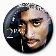 Tupac - Face Badge