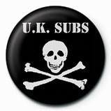 UK SUBS - SKULL  & CROSSBO Badge