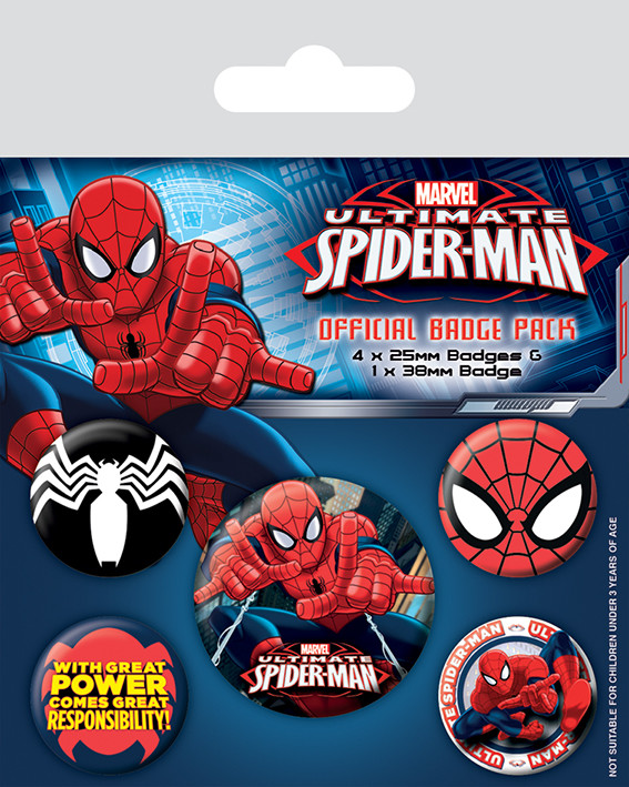 Ultimate Spider-Man Badge Pack