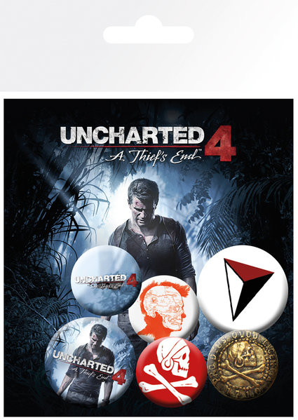 Uncharted 4: A Thiefs End - mix Badge Pack