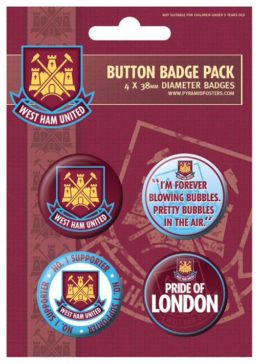 WEST HAM UNITED - No.1 support Badge Pack