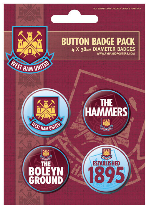 WEST HAM UNITED - The hammers Badge Pack