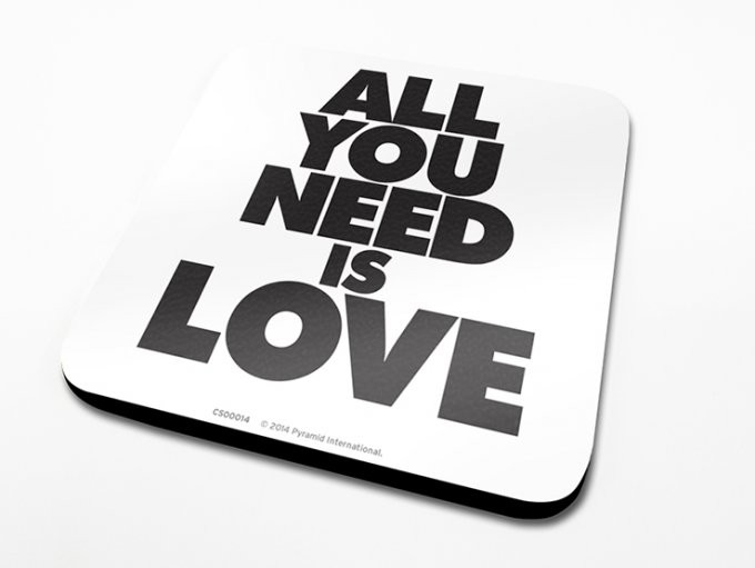Bases para copos All You Need Is Love