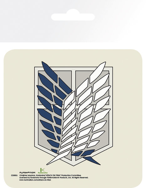 Bases para copos Attack On Titan (Shingeki no kyojin) - Badge