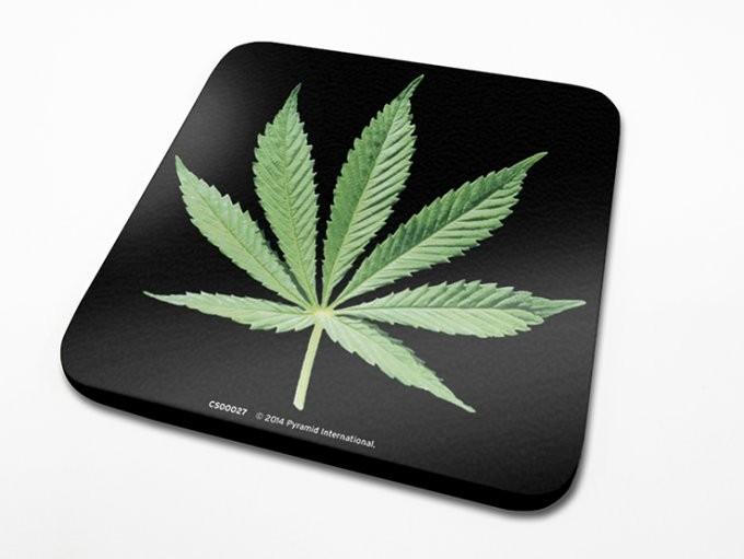 Bases para copos Cannabis Leaf