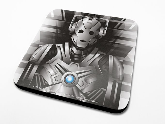 Bases para copos Doctor Who - Cyberman