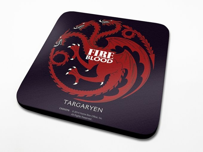 Bases para copos Game of Thrones - Targaryen