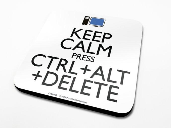 Bases para copos Keep Calm Alt Delete