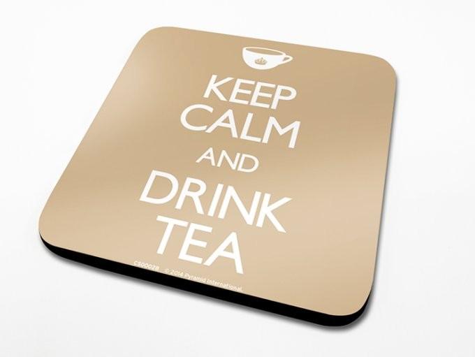 Bases para copos Keep Calm, Drink Tea