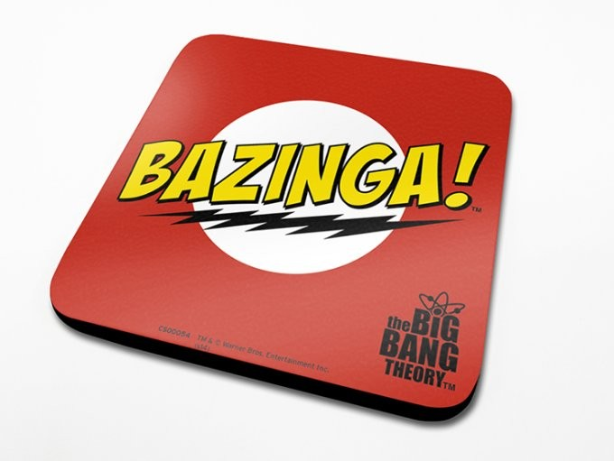 Bases para copos The Big Bang Theory - Bazinga Red