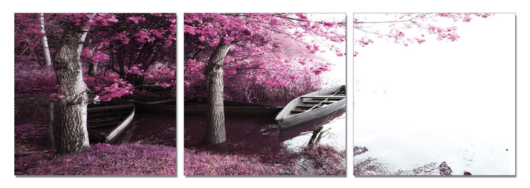 Bay - Trees in Blossoms Tableau Multi-Toiles