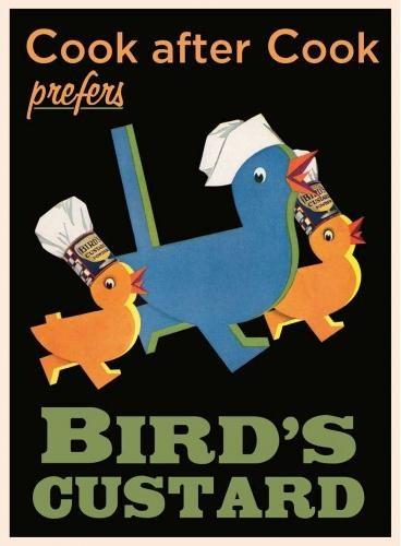 BIRD'S CUSTARD Plaque métal décorée