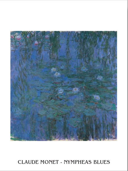 Blue Water Lilies Reproduction d'art