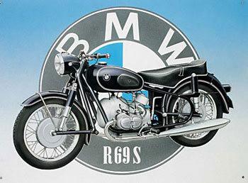 BMW Plaque métal décorée