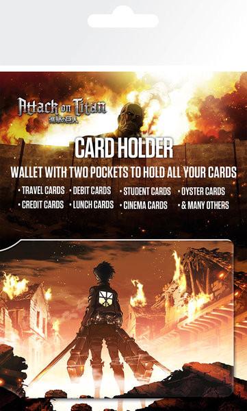 Bolsa para cartões Attack on Titan (Shingeki no kyojin) - Key Art