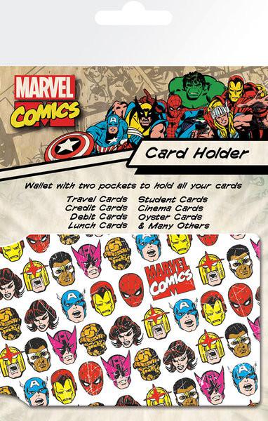 Bolsa para cartões MARVEL - faces