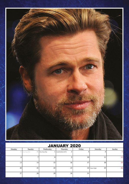 Pitt 2021 Calendar Brad Pitt   Wall Calendars | Large selection