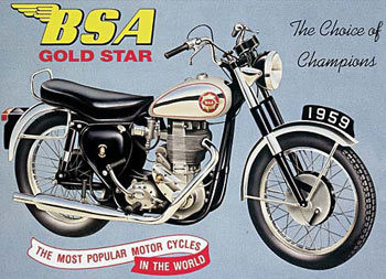 BSA GOLDSTAR Plaque métal décorée