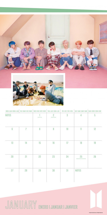 Calendrier Bts 2022 BTS   Wall Calendars 2022 | Large selection
