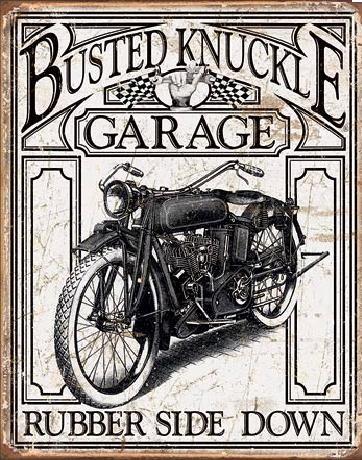 BUSTED KNACKLE - Vintage Plaque métal décorée