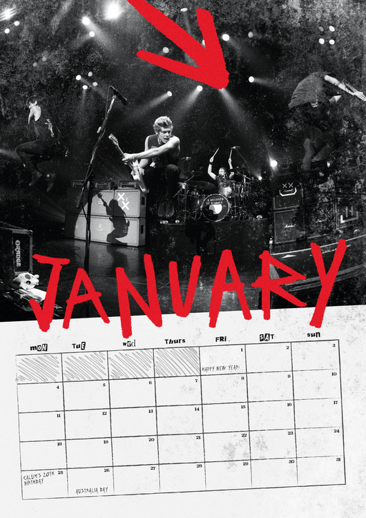 5 Seconds Of Summer Calendars 2020 On Ukposters Europosters