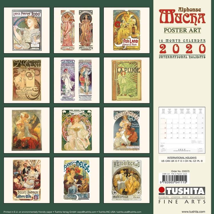 Poster Calendario 2020.Calendar 2020 A Mucha Poster Art