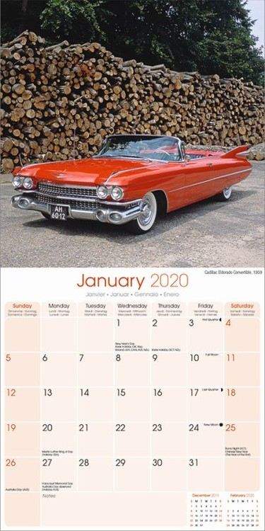 Calendrier Fun Car 2020.American Classic Cars Calendars 2020 On Ukposters