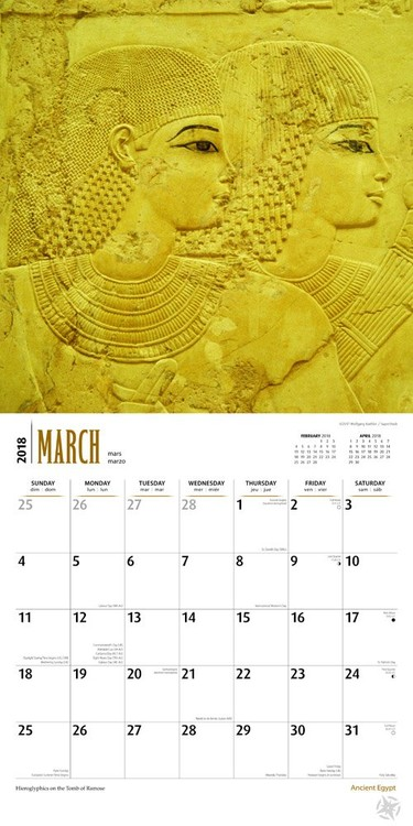 Ancient Egypt Calendars 2019 On UKpostersAbposterscom