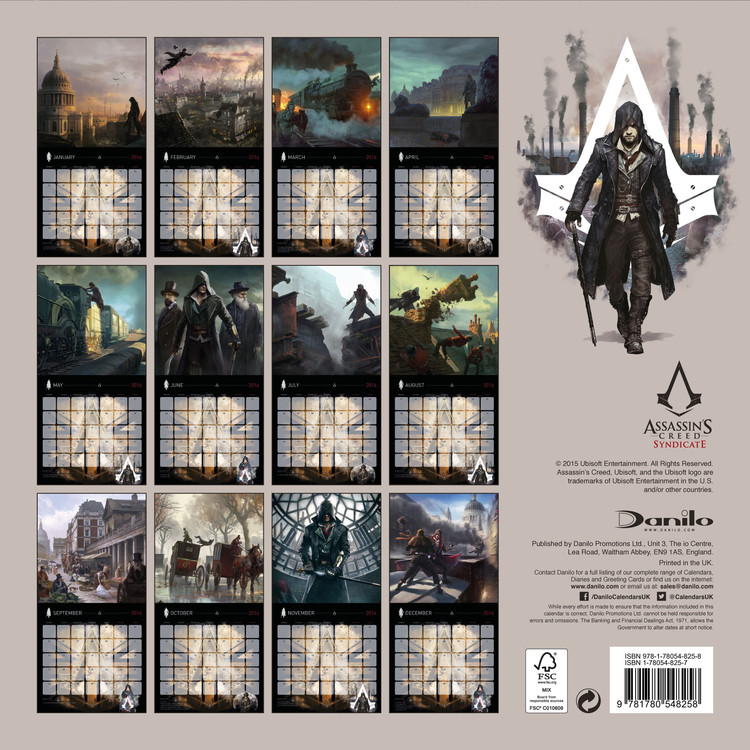 Assassin's Creed Syndicate   Calendars 2021 on UKposters/Abposters.com
