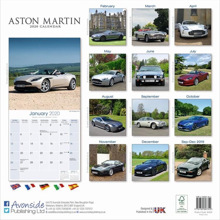 Calendar 2020  Aston Martin