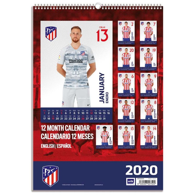 Atletico Madrid   Calendars 2021 on UKposters/Abposters.com