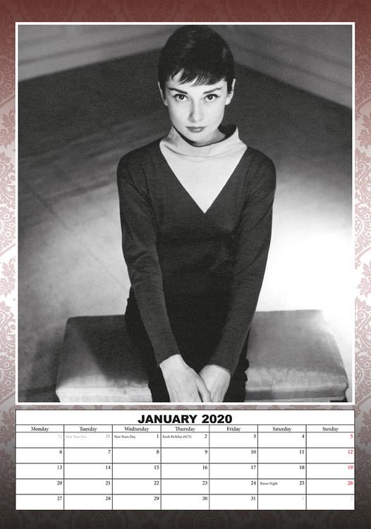 Calendar 2020  Audrey Hepburn