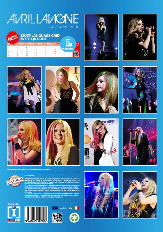 Avril Lavigne   Calendars on UKposters/Abposters.com