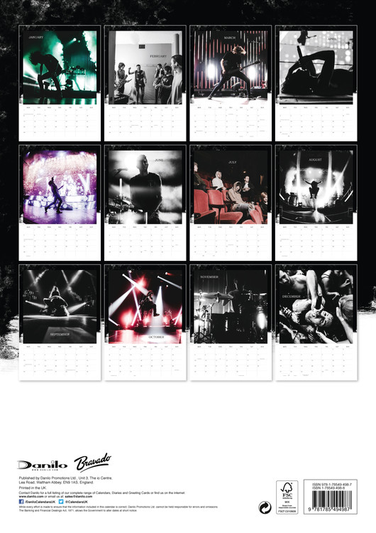 Calendario Sci 2020.Bring Me The Horizon Calendars 2020 On Ukposters Abposters Com