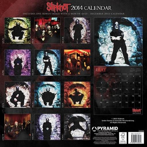 Calendar 2019  Calendar 2014 - SLIPKNOT