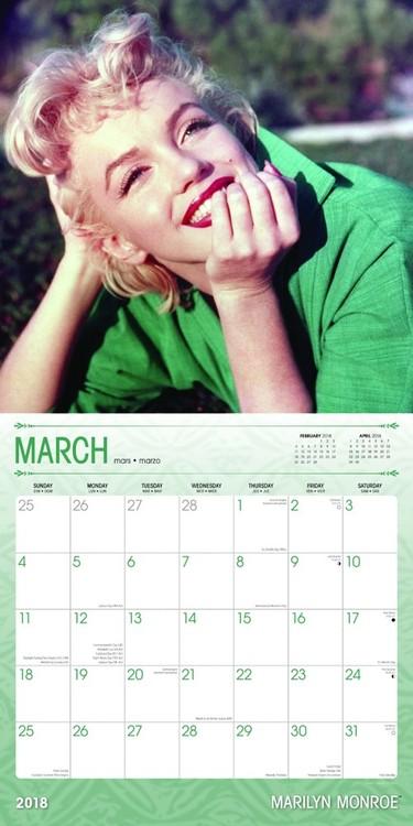 calendar 2018 marilyn monroe calendars 2019 on ukposters europosters