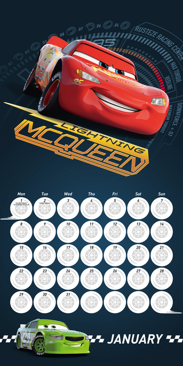 Cars 3   Calendars 2021 on UKposters/Abposters.com