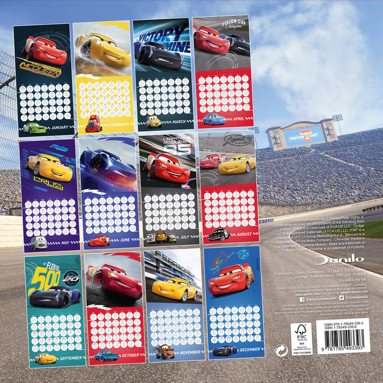 Calendrier Fun Car 2020.Calendar 2020 Cars 3