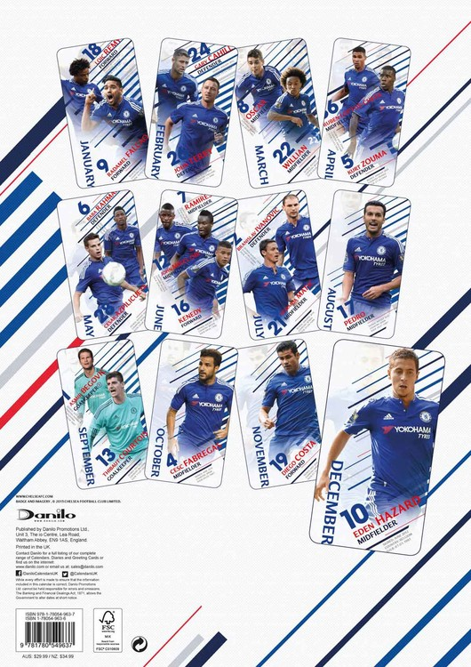 Calendario Chelsea 2020.Calendar 2020 Chelsea Fc