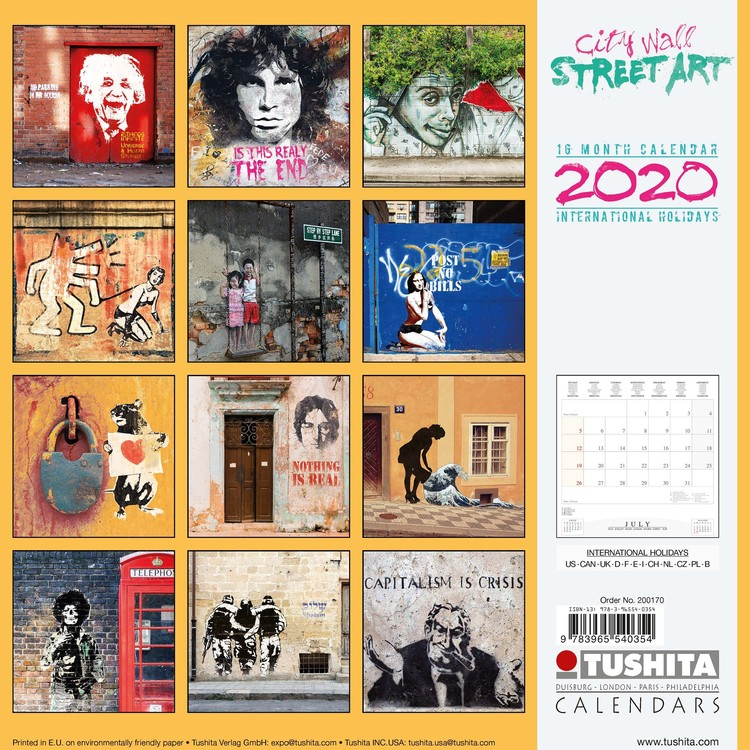 City Wall Street Art   Calendars 2021 on UKposters/Abposters.com