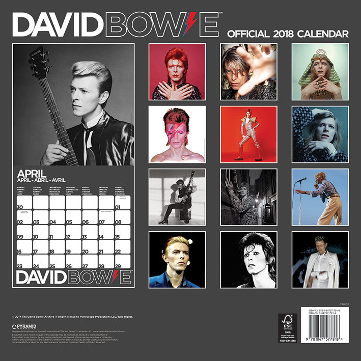 david naptár 2019 David Bowie   Calendars 2019 on UKposters/EuroPosters david naptár 2019