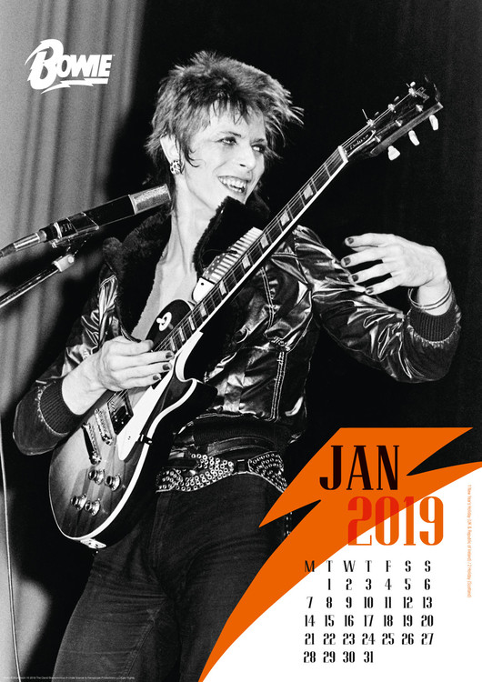 david naptár 2019 David Bowie   Calendars 2019 on UKposters/Abposters.com david naptár 2019