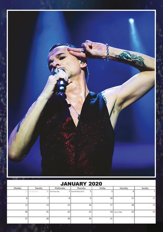 Calendar 2020 Depeche Mode