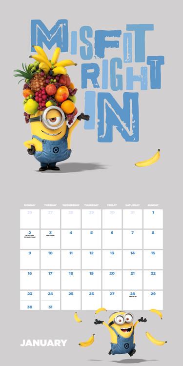 Calendar 2019  Despicable me