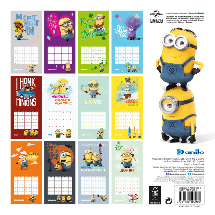Despicable me - Minions - Calendars 2020 on UKposters