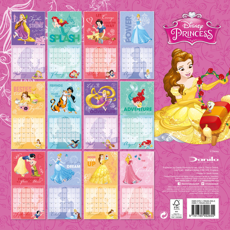 Disney - Princess - Calendars 2021 On UKposters/Abposters.com